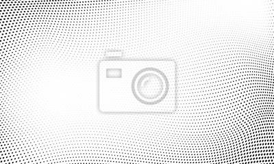 Sticker Point abstrait demi-teinte vague de fond
