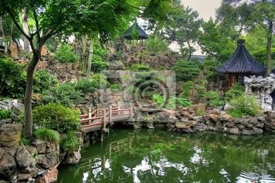 Point de repère célèbre les jardins Yuyuan à Shanghai / Chine