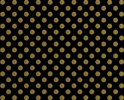 Sticker Polka, motif, Doré, Point