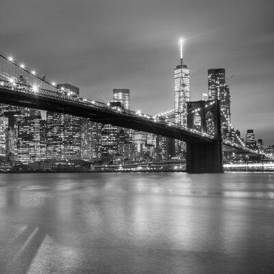 Sticker Pont de Brooklyn au crépuscule, New York City.