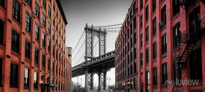 Sticker Pont de Manhattan de la rue de Washington, Brooklyn