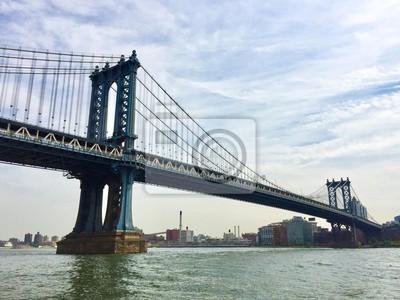 Pont de Manhattan sur la rivière East, New York