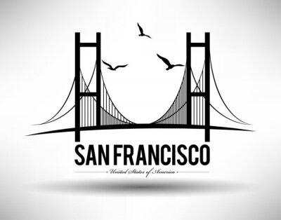 Sticker Pont de San Francisco