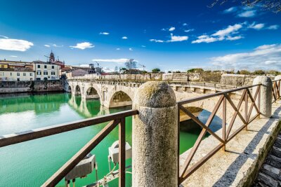 Sticker Pont de Tibère à Rimini