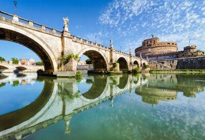 Sticker Pont et le château Saint-Ange, à Rome
