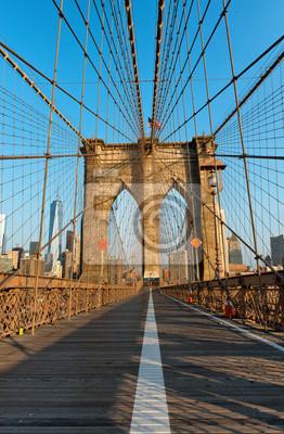 Pont piétonnier pont déserté de Brooklyn