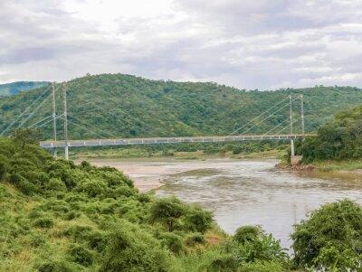 Sticker Pont sur la rivière Luangwa en Zambie