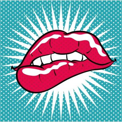 Sticker Pop art fond