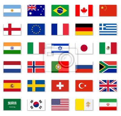 Sticker Popular Flag Collection