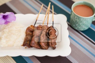 Porc grillé, steak de porc, Barbecue