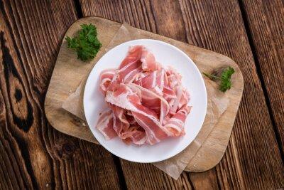 Sticker Portion, cru, bacon
