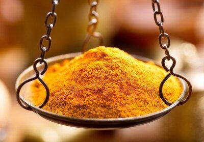 Sticker Poudre d'épices au curry dans un bol