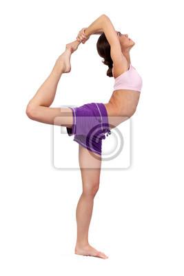 Pratiquer le yoga. Belle femme