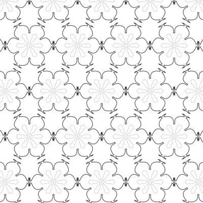 Sticker Primitive simple, seamless rétro gris