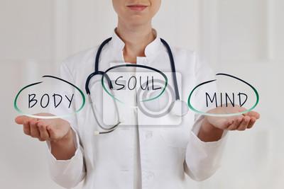 Sticker Principes de médecine alternative et de soins de santé holistiques