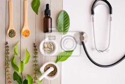 Sticker produit de médecine biologique à base de plantes. herbe naturelle essentielle de la nature.