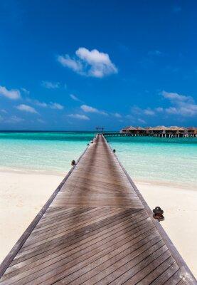Sticker Promenade à la lagune aux Maldives
