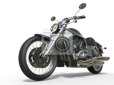 Sticker Puissant, vendange, moto, closeup