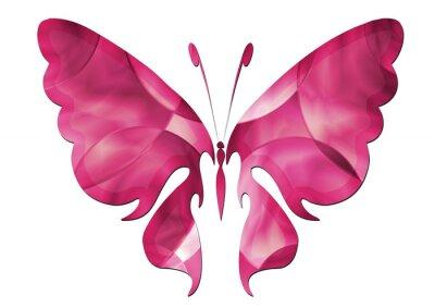 Sticker Purple Butterfly / Beau papillon