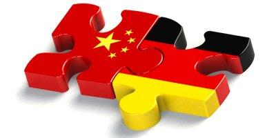 Sticker Puzzelteil zusammenarbeit china