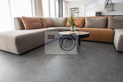 Sticker PVC flooring with decoration
