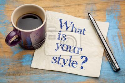 Sticker Quel est votre style?