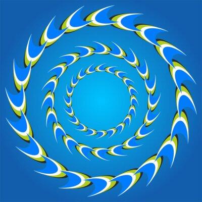 Sticker queues de cercle d'illusion optique