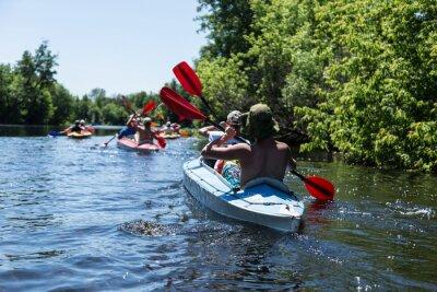 Sticker Rafting sur la rivière Vorskla.
