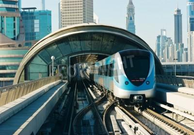 Sticker rails du métro dans les emirats arabes unis