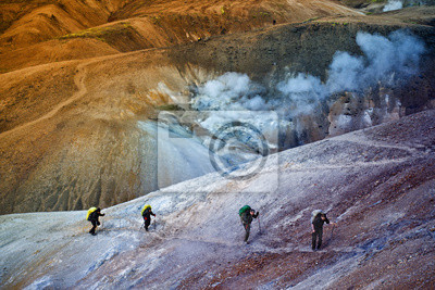 Randonnée dans les montagnes Islande