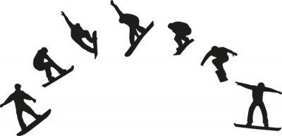 Sticker Rang, snowboard, silhouettes, Sauter