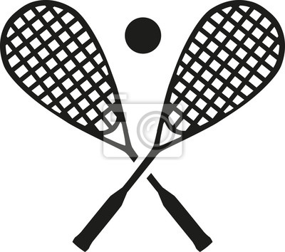 Raquettes de squash avec balle