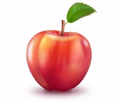 Sticker Récif Apfel, freigestellt