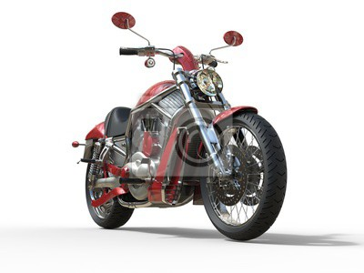 Sticker Red Roadster Bike - Vue de face