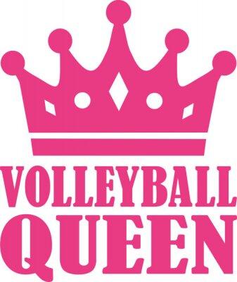 Sticker Reine de volley-ball