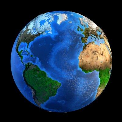 Sticker Reliefs Planète Terre