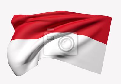Sticker République d'Indonésie drapeau ondulation