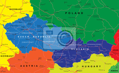 Républiques tchèque et slovaque carte
