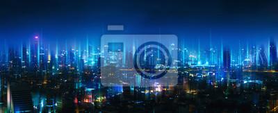 Sticker Réseau sans fil et ville de connexion