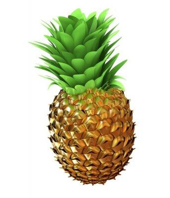 Sticker Résumé ananas or