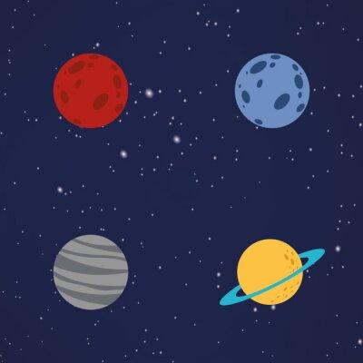Sticker Résumé, bande dessinée, planètes