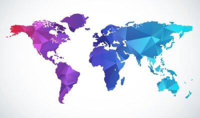 Sticker Résumé carte du monde