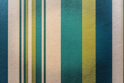 Sticker Résumé, coloré, vendange, fond, stripe, modèle, mur