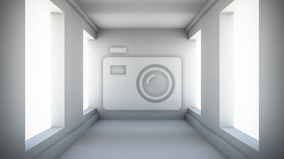Résumé, couloir, intérieur 3D, render, Illustration