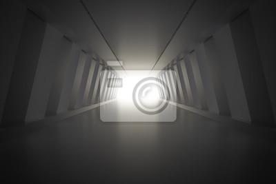 Résumé, couloir, intérieur, lumière 3D, render, Illustration