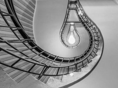 Sticker Résumé, coup, escalier, menant, vers, lumière ...