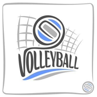 Sticker Résumé de fond sur le thème de volley-ball