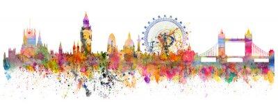 Sticker Résumé de l'horizon de Londres