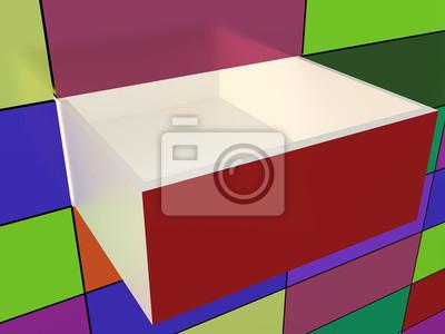 Résumé de la paroi et la boîte ouverte