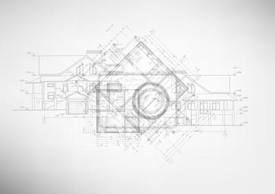 Sticker Résumé des dessins d'architecture.